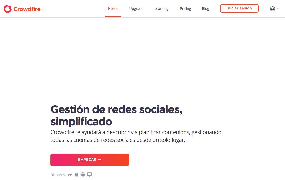 Crowdfire: herramientas para Redes Sociales