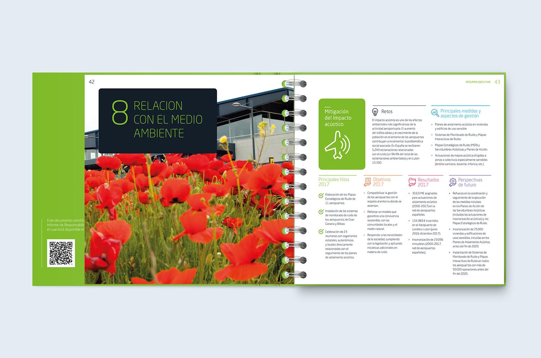 maquetación de informe anual interior