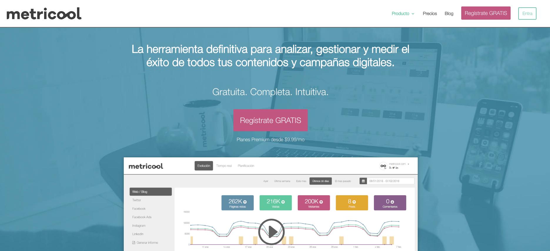 Metricool: herramientas para Redes Sociales