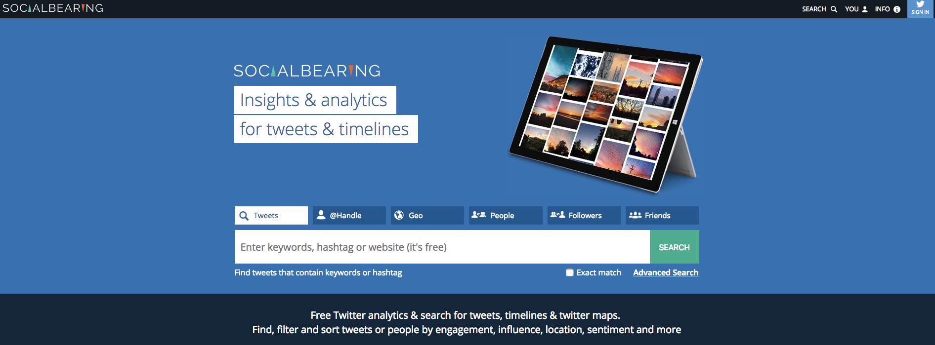 Social Bearing: herramientas para Redes Sociales