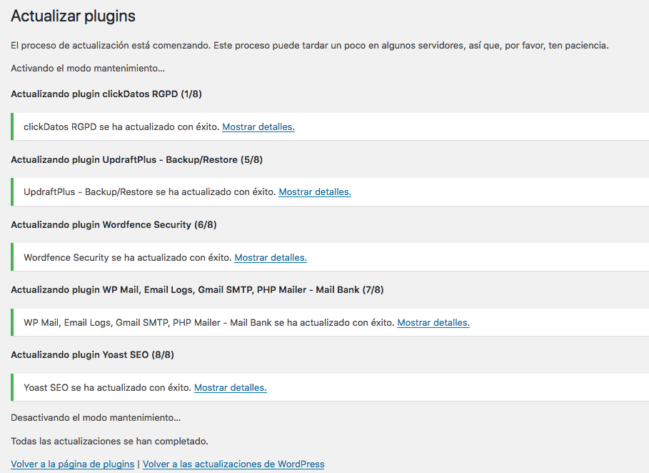Actualizar wordpress paso 3