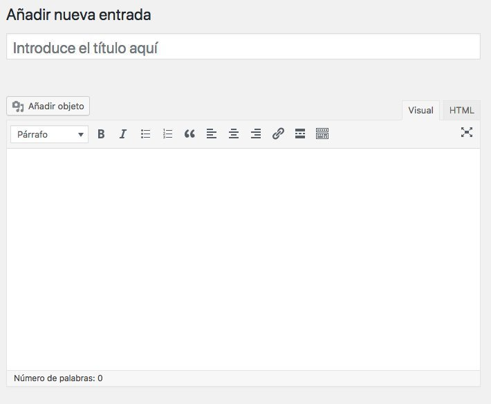 Editor de entrada en WordPress