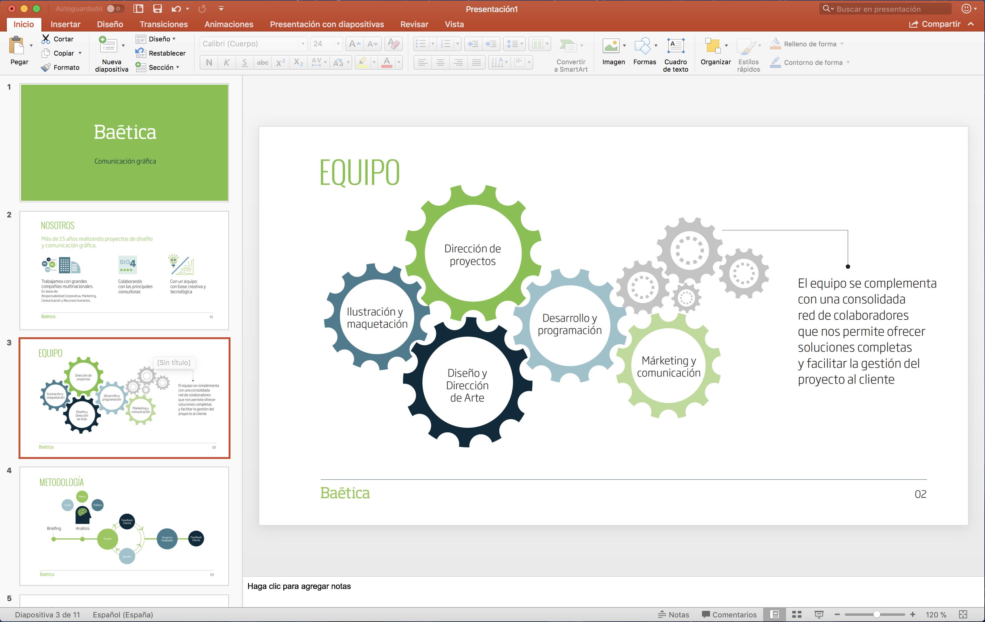 presentación en powerpoint para empresas