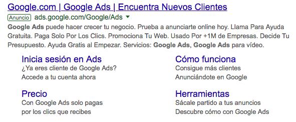 ejemplo de google ads