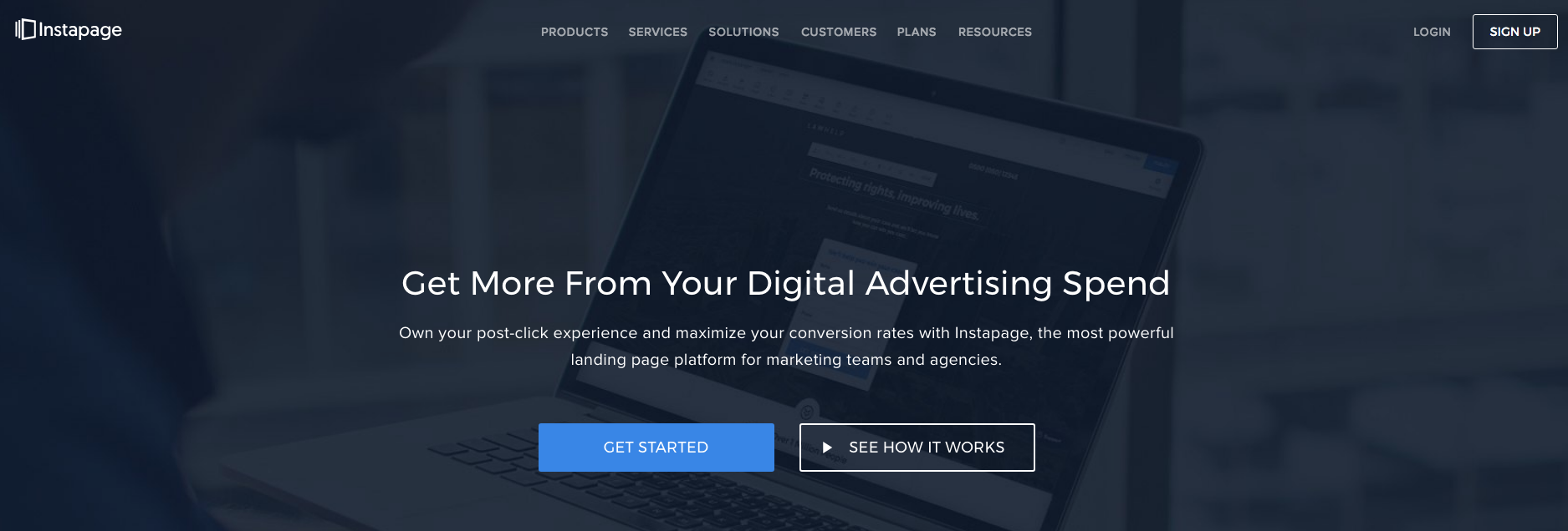landing page con instapage