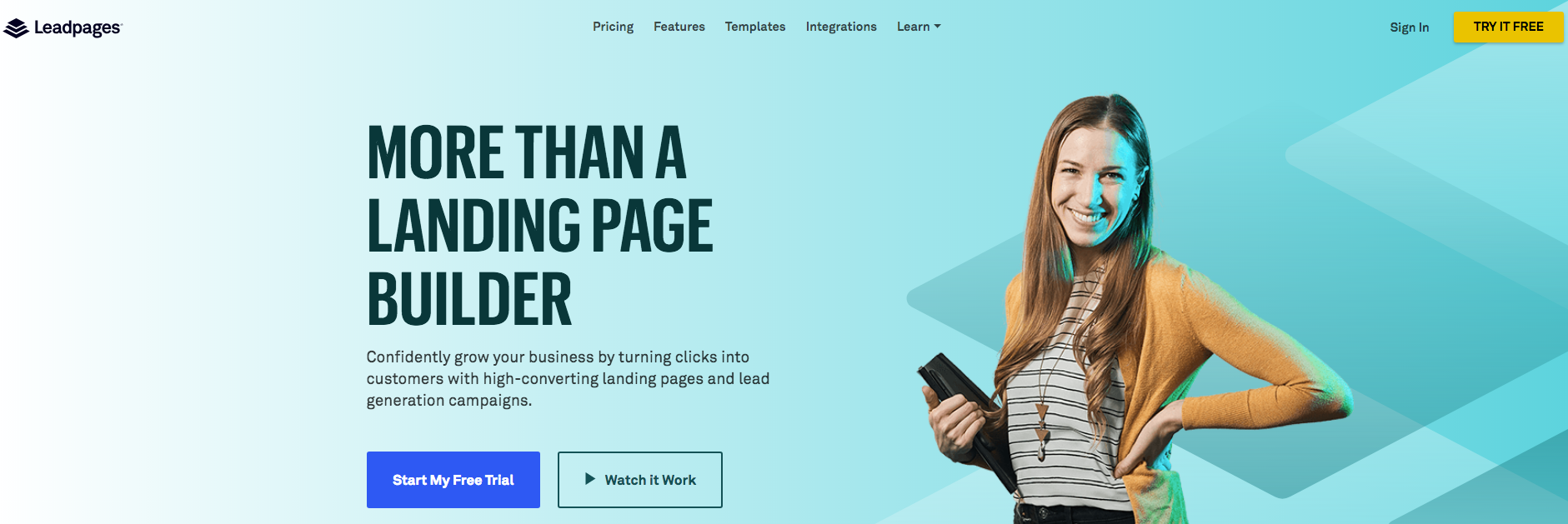 landing page con leadpages