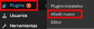 Menú Plugins de WordPress