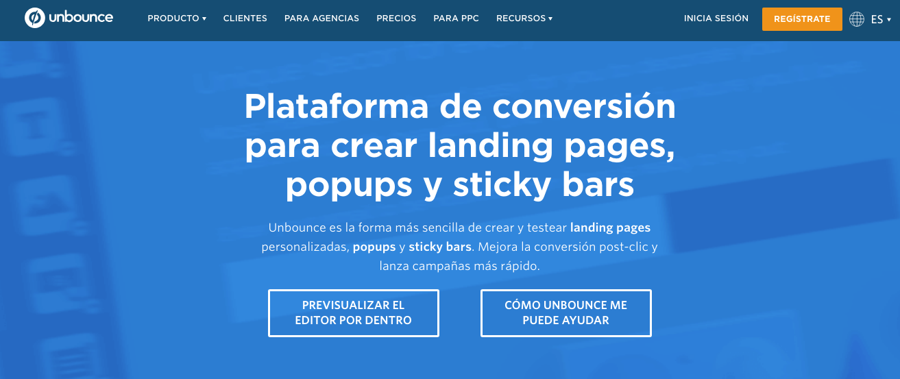 landing page con unbounce