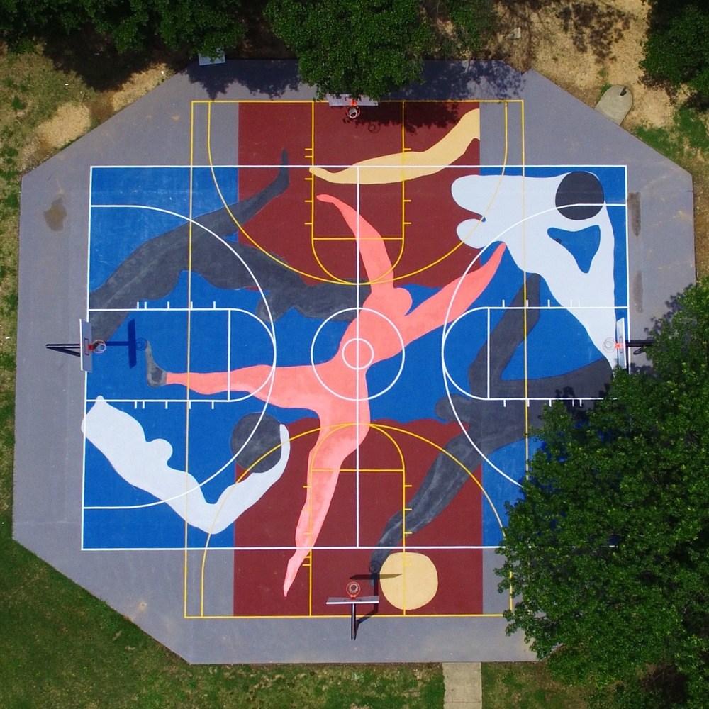 diseño de cancha de baloncesto para mejorar su uso