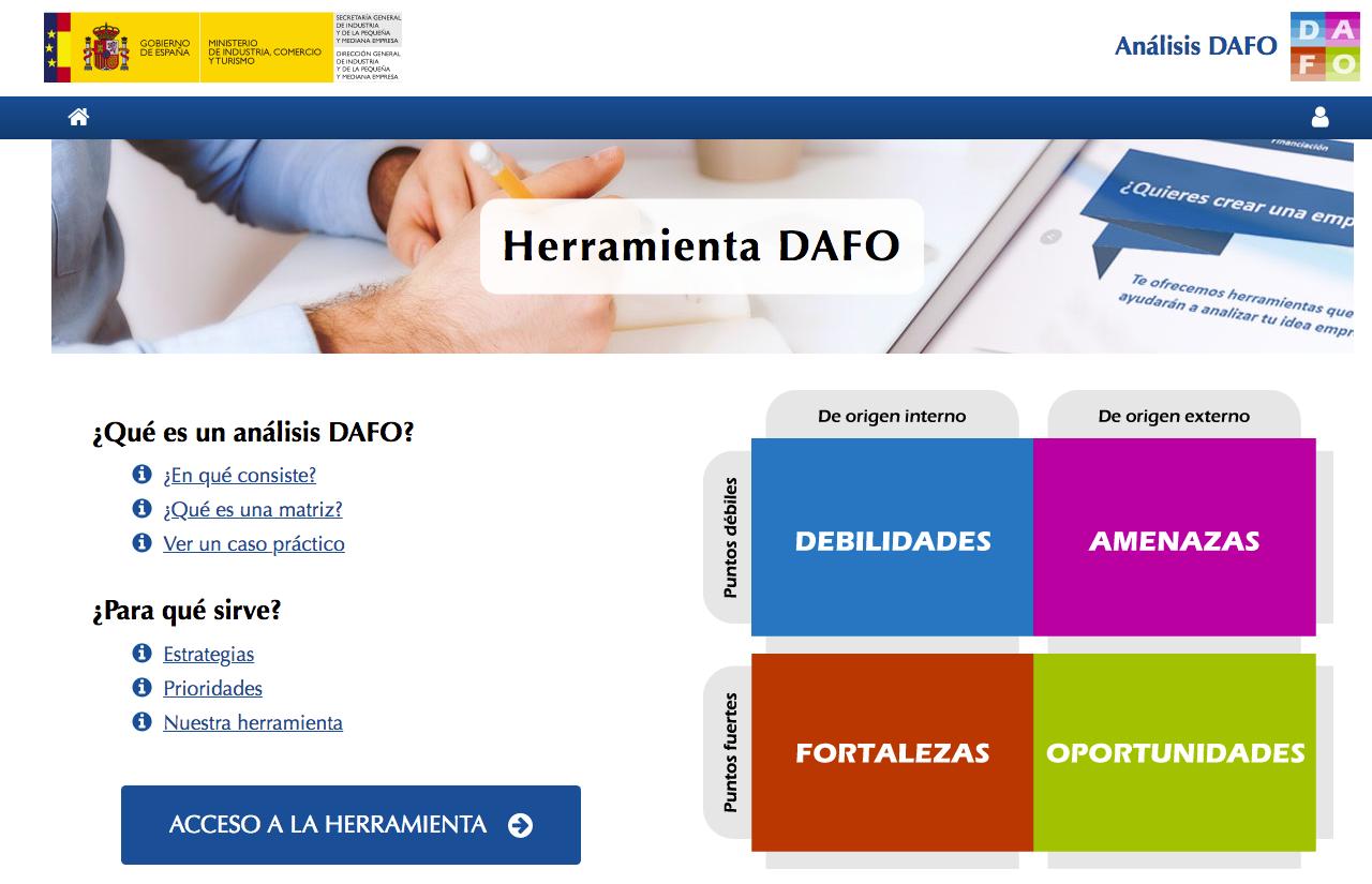 Análisis DAFO con ipyme