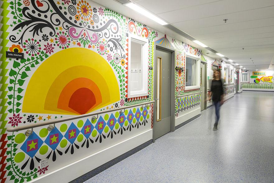 diseño y decoración hospital infantil