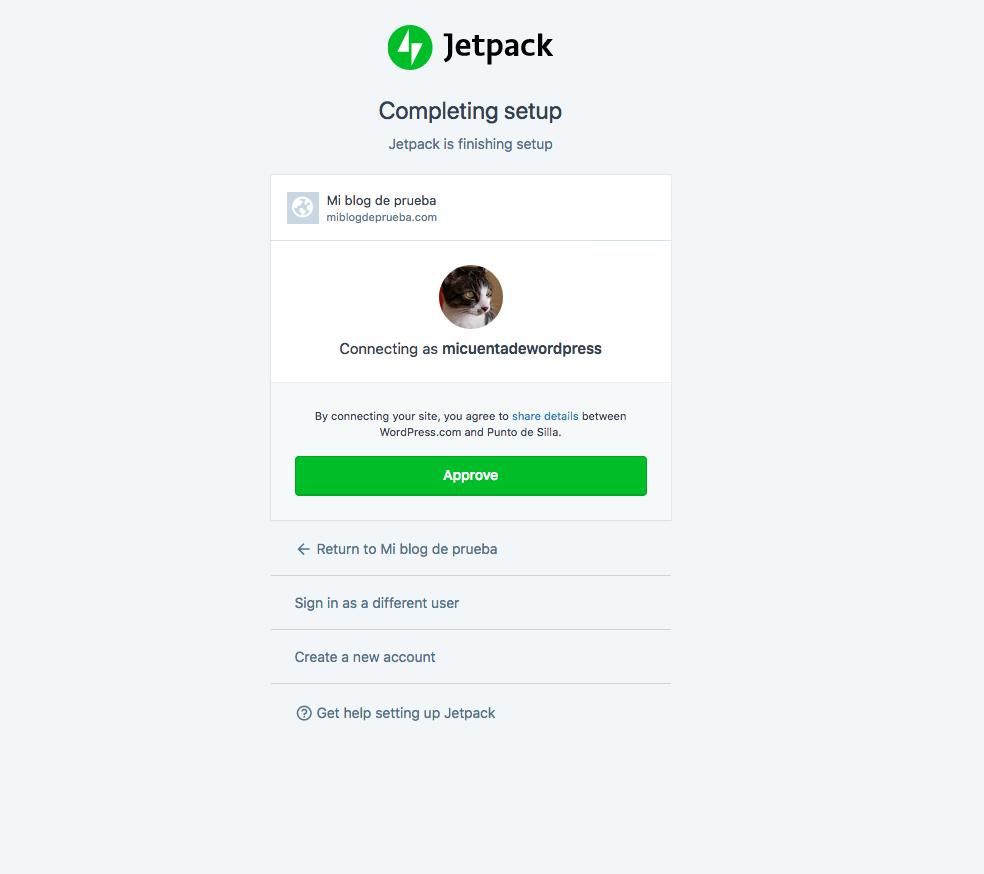 JetPack: configuracion de autorizacion