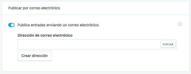 Opción: Correo electrónico