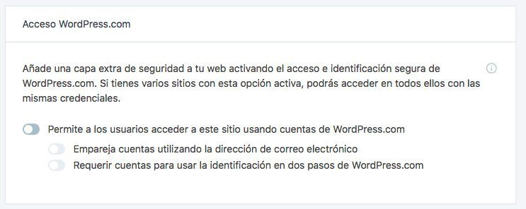 Opción: WordPress login