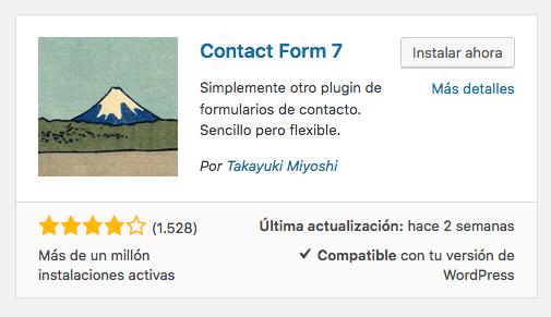 plugin del formulario en WordPress