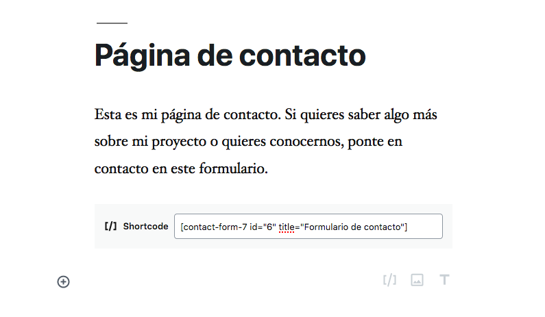 formulario en WordPress