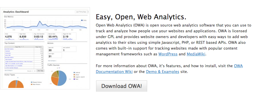 open web analytics para growth hacking