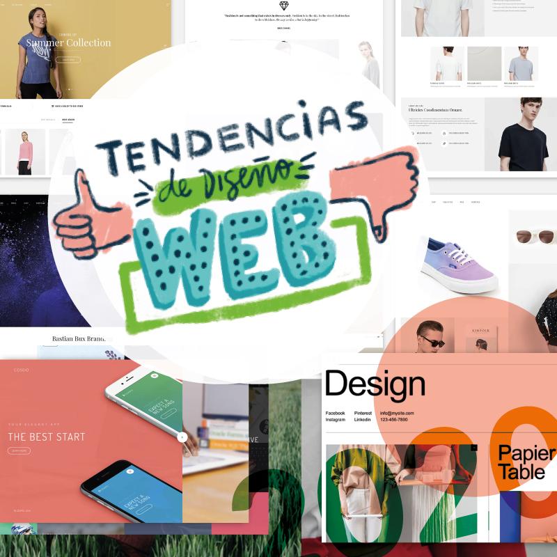¡Tendencias de diseño web para 2020!
