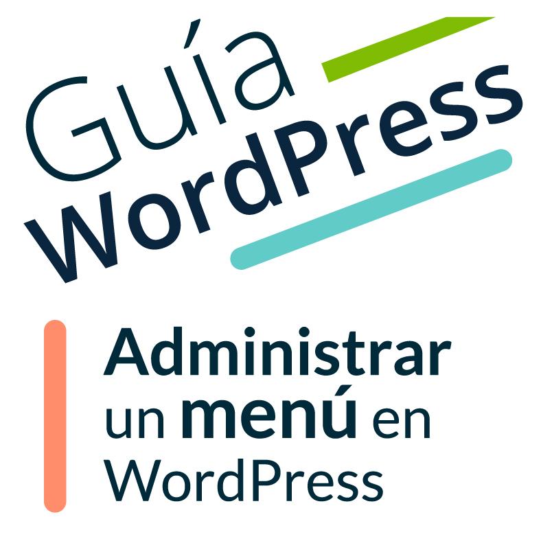 menú en WordPress