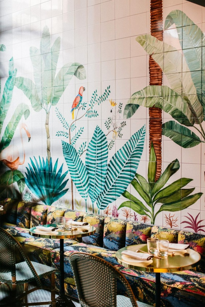 Mural del restaurante Zaperoco de Madrid